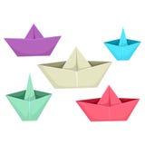Barcos de papel Imagenes de archivo
