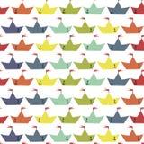 Barcos de papel da cor ilustração stock