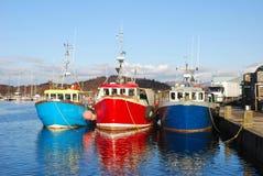 Barcos de pesca. fotos de stock