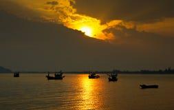 Barcos de pesca. Imagens de Stock