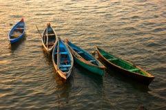 Barcos de pesca. Imagem de Stock