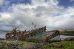 Barcos de pesca abandonados Fotografía de archivo libre de regalías