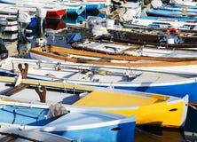 Barcos de pesca amarrados Fotografía de archivo libre de regalías