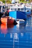 Barcos de pesca, angra de Peggy, Nova Escócia Imagens de Stock Royalty Free