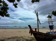 Barcos de pesca asiáticos imagens de stock royalty free