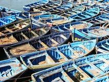 Barcos de pesca azuis Fotografia de Stock Royalty Free
