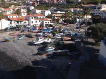 Barcos de Pesca/barcos de pesca Camara de Lobos, Madeira Imagen de archivo libre de regalías