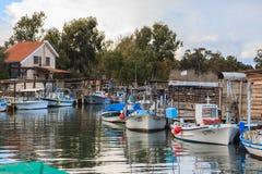 Barcos de pesca, Chipre Fotos de archivo