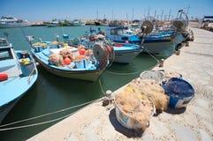 Barcos de pesca chipriotas Imágenes de archivo libres de regalías