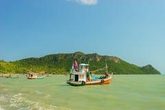 Barcos de pesca da província de Prachuap de Tailândia Imagens de Stock