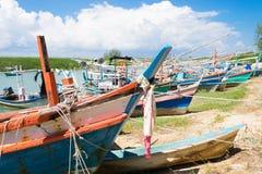 Barcos de pesca da província de Prachuap de Tailândia Imagem de Stock Royalty Free
