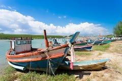 Barcos de pesca da província de Prachuap de Tailândia Fotos de Stock
