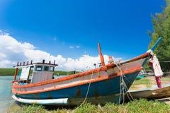 Barcos de pesca da província de Prachuap de Tailândia Fotografia de Stock Royalty Free