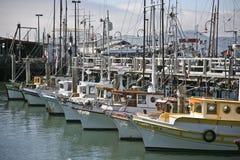 Barcos de pesca da tosquiadeira de Monterey do vintage Foto de Stock