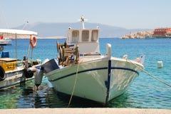Barcos de pesca de Halki, Grecia Imagen de archivo libre de regalías