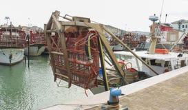 Barcos de pesca de la almeja Imagenes de archivo