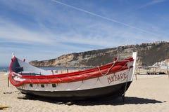 Barcos de pesca de Nazare imagem de stock royalty free