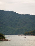 Barcos de pesca de Paraty fotos de stock royalty free