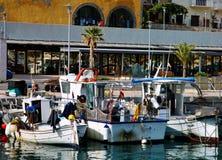 Barcos de pesca de Spain fotografia de stock