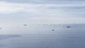 Barcos de pesca de time lapse almacen de metraje de vídeo
