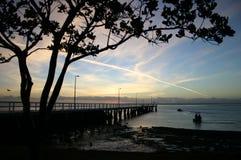 Barcos de pesca del amanecer Imágenes de archivo libres de regalías