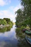 Barcos de pesca do palmar Imagens de Stock Royalty Free