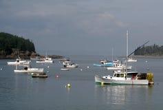 Barcos de pesca do porto da barra Fotos de Stock Royalty Free