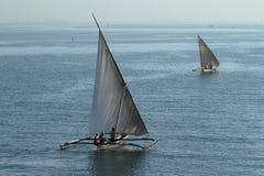 Barcos de pesca e barcos de navigação no Oceano Índico Imagem de Stock