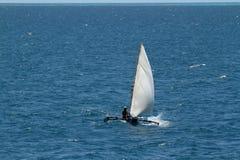 Barcos de pesca e barcos de navigação no Oceano Índico Foto de Stock Royalty Free