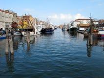 Barcos de pesca em Chioggia Foto de Stock