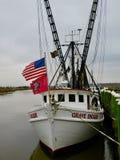 Barcos de pesca em Darien Fotografia de Stock