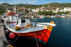 Barcos de pesca em Greece Imagem de Stock Royalty Free