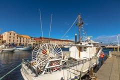 Barcos de pesca em Hobart Harbour foto de stock royalty free