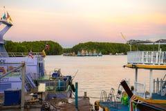Barcos de pesca em Krabi 4 Fotografia de Stock Royalty Free