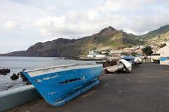 Barcos de pesca em Madeira Foto de Stock
