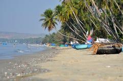 Barcos de pesca em Mui Ne, Vietname Fotos de Stock Royalty Free