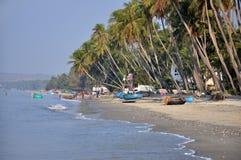 Barcos de pesca em Mui Ne, Vietname Imagens de Stock
