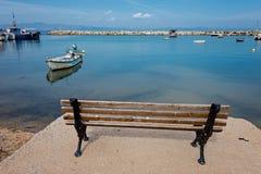 Barcos de pesca em Nea Fokea Foto de Stock
