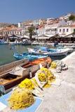 Barcos de pesca em Samos Imagens de Stock Royalty Free