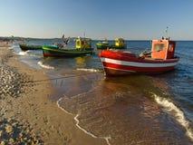 Barcos de pesca em Sopot Imagens de Stock