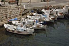 Barcos de pesca em Spetses Foto de Stock Royalty Free