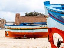 Barcos de pesca em Tunísia em Hammamet Foto de Stock