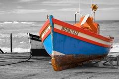 Barcos de pesca en Arniston en el Western Cape, Suráfrica Imagen de archivo
