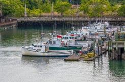 Barcos de pesca en Boston Foto de archivo libre de regalías