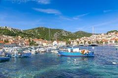 Barcos de pesca en croatia Fotografía de archivo libre de regalías