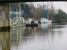 Barcos de pesca en Darien Imágenes de archivo libres de regalías
