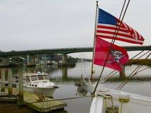 Barcos de pesca en Darien Foto de archivo