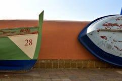 Barcos de pesca en descanso Imagen de archivo libre de regalías