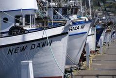 Barcos de pesca en el ancla Imagen de archivo