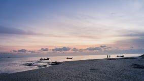 Barcos de pesca en el mar Foto de archivo libre de regalías